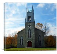 Old Stone Church, Canvas Print