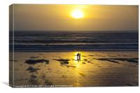 Aberavon at Sunset, Canvas Print