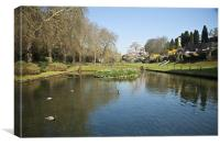 Lake at St Fagans, Canvas Print