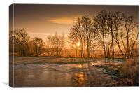 Herefordshire Sunrise, Canvas Print