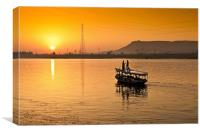 Sunset over The River Nile, Canvas Print