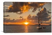 Caribbean Sunrise, Canvas Print