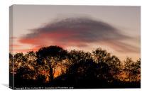 Lenticular Sunset, Canvas Print