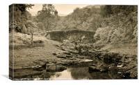Elan Valley Bridge, Canvas Print