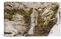 Snow Covered Waterfall, Canvas Print