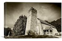 Bridge Sollars Church, Canvas Print