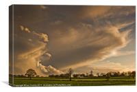 Stormy Skies and Sundog., Canvas Print