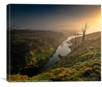 Elan Valley Emerald Glow, Canvas Print