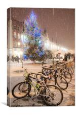 High Town Snow, Canvas Print