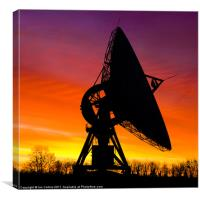 Radio Dish Antenna, Canvas Print