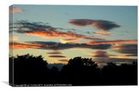 Lenticular Sunset 2, Canvas Print