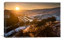Claerwen sunrise Elan Valley., Canvas Print