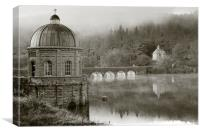 Foel Tower Monochrome, Canvas Print