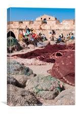 Essaouira Fishing nets, Canvas Print
