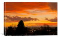 Hereford City Sunset, Canvas Print