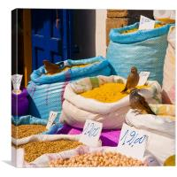 Moroccan Market stall, Canvas Print