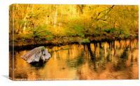Autumn Colour Reflections, Canvas Print