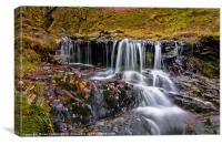 Elan Valley Waterfall., Canvas Print