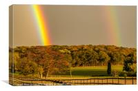 Bright Double Rainbow, Canvas Print