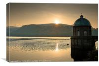 Sunset at the Foel, Canvas Print