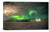 The Aurora Borealis, Canvas Print