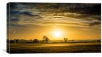 Misty Sunrise, Canvas Print
