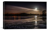 Setting Moon over Lugg Flats, Canvas Print