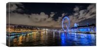 London Eye Panoramic, Canvas Print