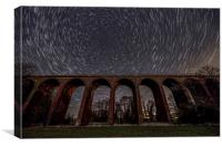 Ledbury Viaduct Startrails, Canvas Print