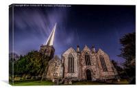 Ledbury Church Moonlight, Canvas Print