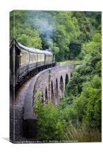 Lytham Manor Steam Train on the Viaduct, Canvas Print