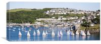 View of Polruan from Fowey, Canvas Print