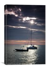 Lonely Boats at Torcross, Canvas Print