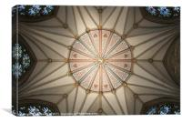 Chapter House Ceiling in York Minster, Canvas Print