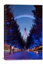 London Eye Avenue of Trees, Canvas Print