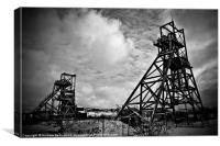 Winding Towers Penallta Collery, Canvas Print