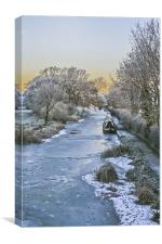 Foxton winter scene, Canvas Print