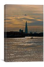 Sunset overThe Shard, Canvas Print