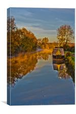 Autumn on the grand union canal, Canvas Print
