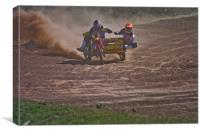 Motorcross sidecar, Canvas Print