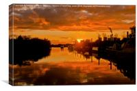 Torksey Sunset tidal Trent, Canvas Print