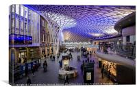 Kings Cross ticket hall , Canvas Print