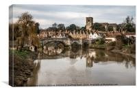 Aylesford Bridge , Canvas Print
