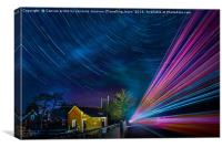 Star car and lorry trails re-visited, Canvas Print
