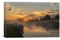 trent sunrise, Canvas Print