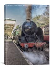 Romancing the rails , Canvas Print