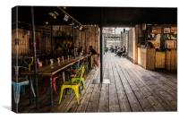 Box Park Shorditch, Canvas Print