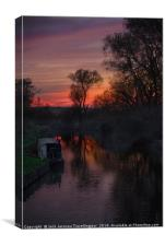 River Stort Sunset, Canvas Print