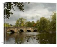 Bakewell Bridge, Canvas Print
