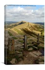 Stile at Mam Tor, Canvas Print